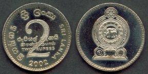 Sri Lanka 2 rupee coin - 2002 - Ceylon & Sri Lanka Coins & Coin Sets