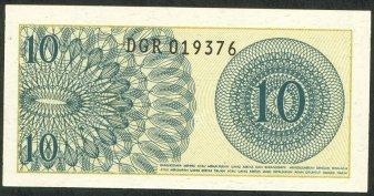 1964 Indonesia 10 Sen Banknote